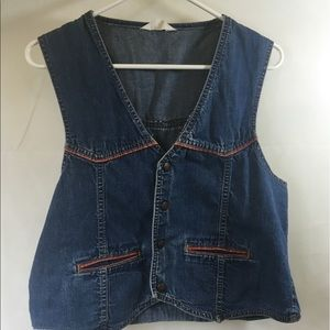 True Vintage Montgomery Ward Denim Vest Size L